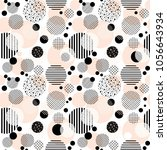 abstract seamless pattern with ... | Shutterstock .eps vector #1056643934