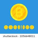 coins stack vector illustration ... | Shutterstock .eps vector #1056648011