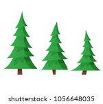 cartoon trees isolated. flat | Shutterstock .eps vector #1056648035