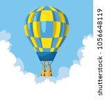 flat hot air balloon | Shutterstock .eps vector #1056648119