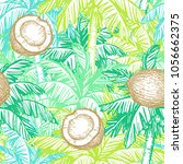 seamless pattern. ink sketch of ... | Shutterstock .eps vector #1056662375