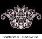 neckline  design. black and... | Shutterstock .eps vector #1056669851