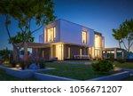 3d rendering of modern cozy... | Shutterstock . vector #1056671207