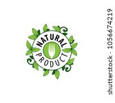 natural product logo design... | Shutterstock .eps vector #1056674219