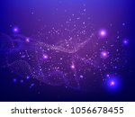 abstract technology digital... | Shutterstock .eps vector #1056678455