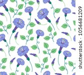 seamless floral pattern with... | Shutterstock .eps vector #1056681209