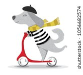 Cute Dog Illustration.cartoon...