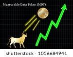 gold bull  throwing up... | Shutterstock .eps vector #1056684941