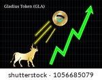 gold bull  throwing up gladius... | Shutterstock .eps vector #1056685079