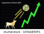 gold bull  throwing up... | Shutterstock .eps vector #1056685091