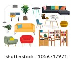 furniture collection. vector... | Shutterstock .eps vector #1056717971
