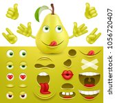 emoji  smiley creator from pear.... | Shutterstock .eps vector #1056720407