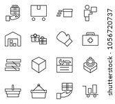 flat vector icon set   gift... | Shutterstock .eps vector #1056720737