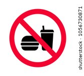 red prohibition no food or... | Shutterstock .eps vector #1056730871