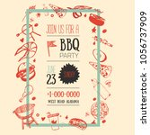 barbecue flyer template for... | Shutterstock .eps vector #1056737909