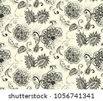 elegance seamless pattern with... | Shutterstock .eps vector #1056741341
