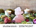 stacked rose quartz in fairy... | Shutterstock . vector #1056741347