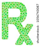 rx symbol collage of filled... | Shutterstock .eps vector #1056743087