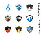collection of abstract shield... | Shutterstock .eps vector #1056747029