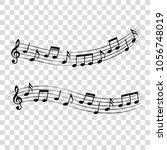 music notes  musical design... | Shutterstock .eps vector #1056748019