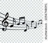 musical design element  music... | Shutterstock .eps vector #1056748091