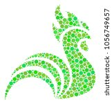 rooster collage of dots in... | Shutterstock .eps vector #1056749657