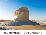 the white desert at farafra in... | Shutterstock . vector #1056750944