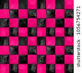 Black And Pink Checkered Plaid...