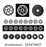 vector camera shutter apertures | Shutterstock .eps vector #105675857