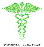 medical caduceus emblem collage ... | Shutterstock .eps vector #1056759125