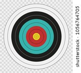 archery target on transparent... | Shutterstock .eps vector #1056764705