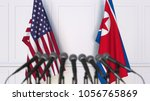 flags of the usa and north... | Shutterstock . vector #1056765869