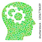 intellect gears mosaic of... | Shutterstock .eps vector #1056778439