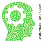intellect gear collage of... | Shutterstock .eps vector #1056779021