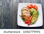 dietary food  proteins  healthy ... | Shutterstock . vector #1056779591