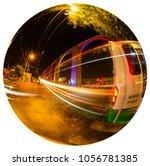 los arcos queretaro mexico with ... | Shutterstock . vector #1056781385