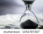closed up of sand falling in... | Shutterstock . vector #1056787307