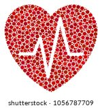 cardiology mosaic of filled...   Shutterstock . vector #1056787709
