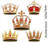 vectorized crown | Shutterstock .eps vector #10567999