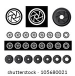 camera shutter apertures in... | Shutterstock . vector #105680021