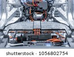 electric car lithium battery... | Shutterstock . vector #1056802754