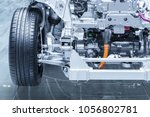 chassis of the electric  hybrid ... | Shutterstock . vector #1056802781