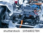chassis of the electric car... | Shutterstock . vector #1056802784