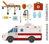 ambulance icons medicine health ... | Shutterstock .eps vector #1056803291