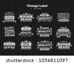 vector set vintage labels and... | Shutterstock .eps vector #1056811097