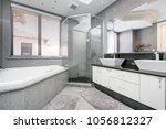 luxurious  large bathroom with... | Shutterstock . vector #1056812327