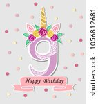vector illustration with number ... | Shutterstock .eps vector #1056812681