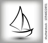 yacht  logo templates. sail... | Shutterstock .eps vector #1056822851