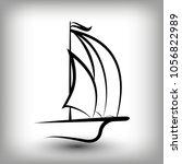 yacht  logo templates. sail... | Shutterstock .eps vector #1056822989