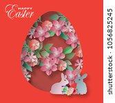 vector background paper cut... | Shutterstock .eps vector #1056825245